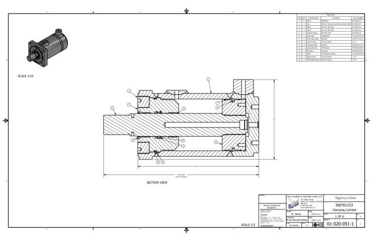 Image of Segment Cylinder Drafting Service