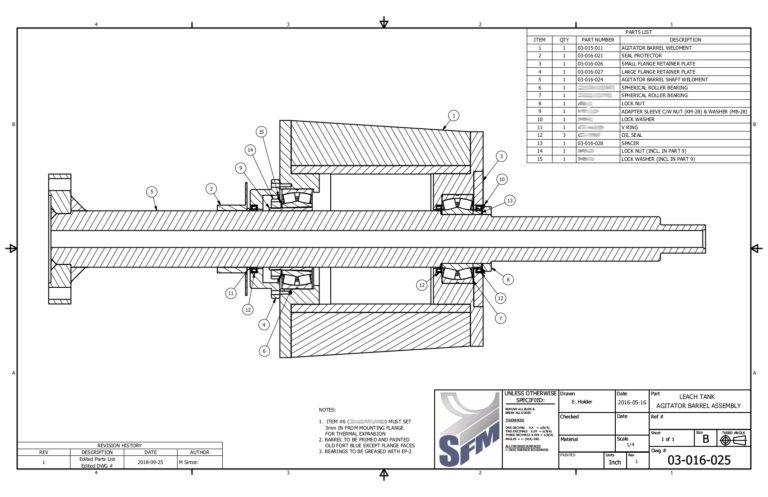 Image of Leach Tank Drive Shaft Barrel Assembly
