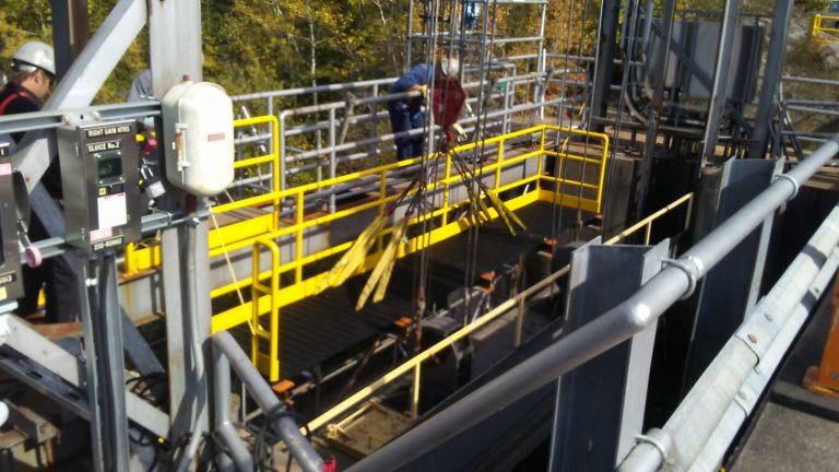 Image of Aubrey Falls G.S. Tailrace Platform Installation