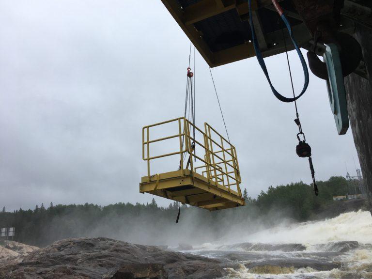 Image of Tailrace Ladder and Platform Installation