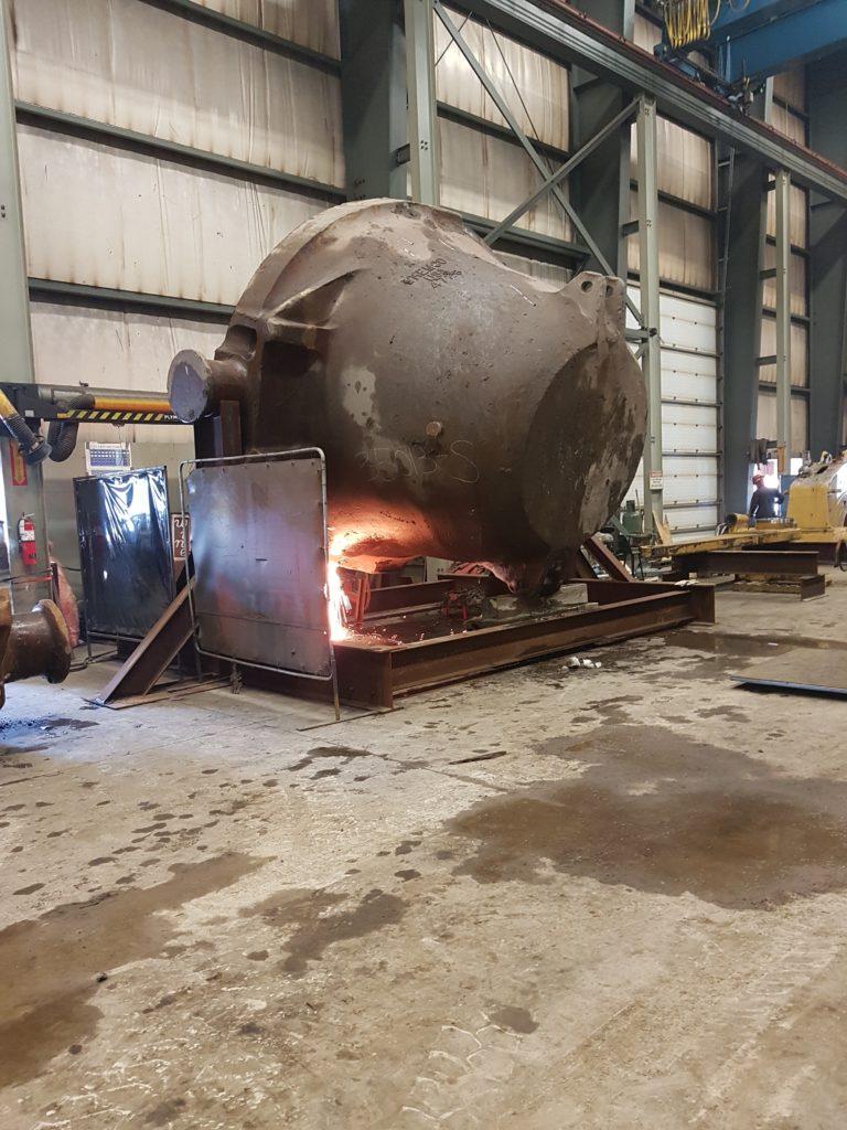 Image of Integrated Steel Mill Slag Pot Repairs